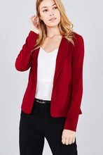 Load image into Gallery viewer, Ladies fashion long sleeve notched collar princess seam w/back slit jacket