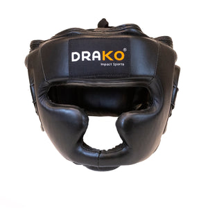 DRAKO LEATHER TRAINING BOXING HEADGEAR