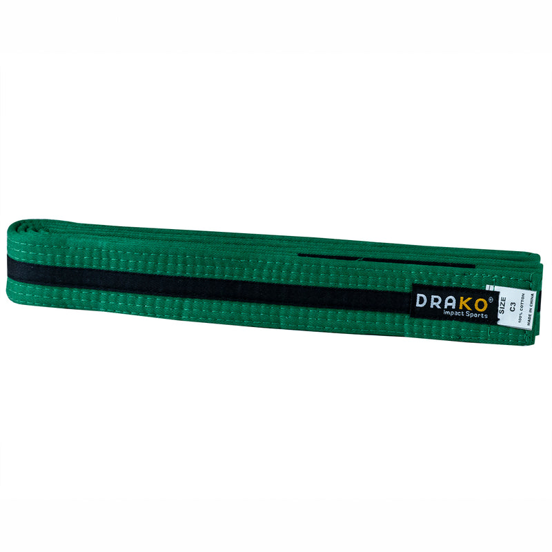 DRAKO YOUTH BLACK STRIPE BJJ BELTS