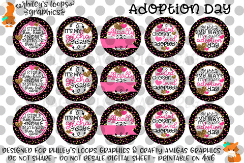 Adoption Day - Gotcha Day Bottle Cap Sheet