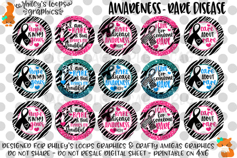 Awareness - Rare Diseases Zebra Print