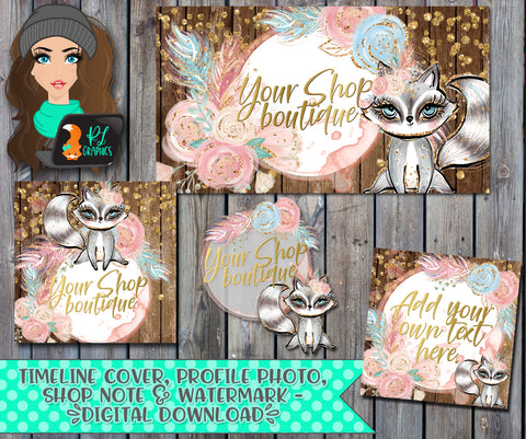 BOHO Racoon Facebook Business Set