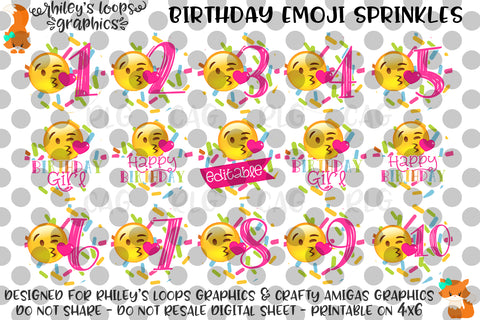 Birthday Emoji Sprinkles