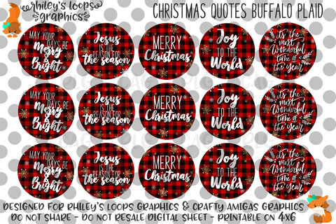 Christmas Quotes BUffalo Plaid