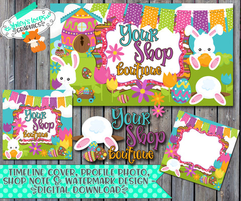 Easter Village Facebook Business Set - SEMI-EXCLUSIVE