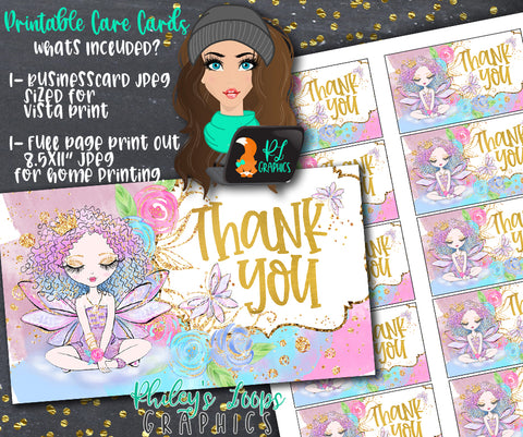 FAIRY TALE FAIRY - BUSINESS GRAPHICS CARDS - THANK YOU CARDS