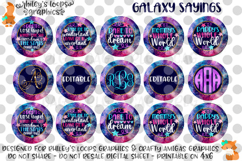 Galaxy Sayings - Editable