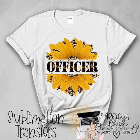 SUNFLOWER - OFFICER Sublimation Transfer PNG