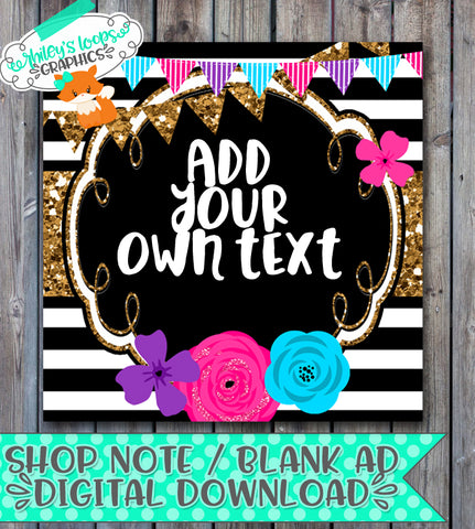 Editable Shop Note - Bright & Trendy