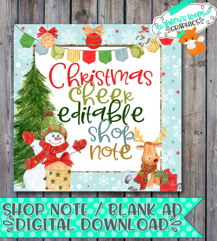 Shop Note - Christmas Cheer