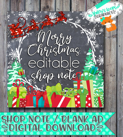 Shop Note - Christmas Present Night Scene