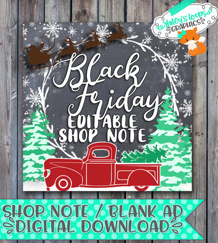Shop Note - Christmas Truck Night Scene