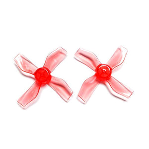 Gemfan 1220-4 31mm Durable Quad-Blade Micro/Whoop Prop 8 Pack (1mm Shaft) - Choose Your Color