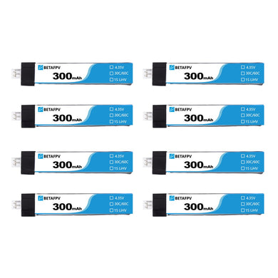 BetaFPV 300mAh 30C 3.8V TW Battery (8 Pack)