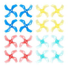 Gemfan 40mm 4-Blade Propellers (1.0mm Shaft)