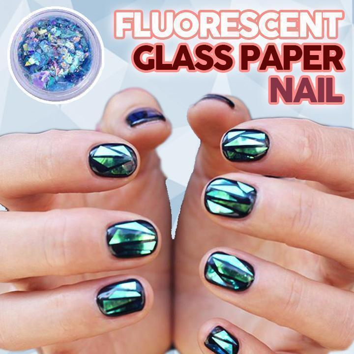 Fluorescent Glass Paper Nail (Set of 4)