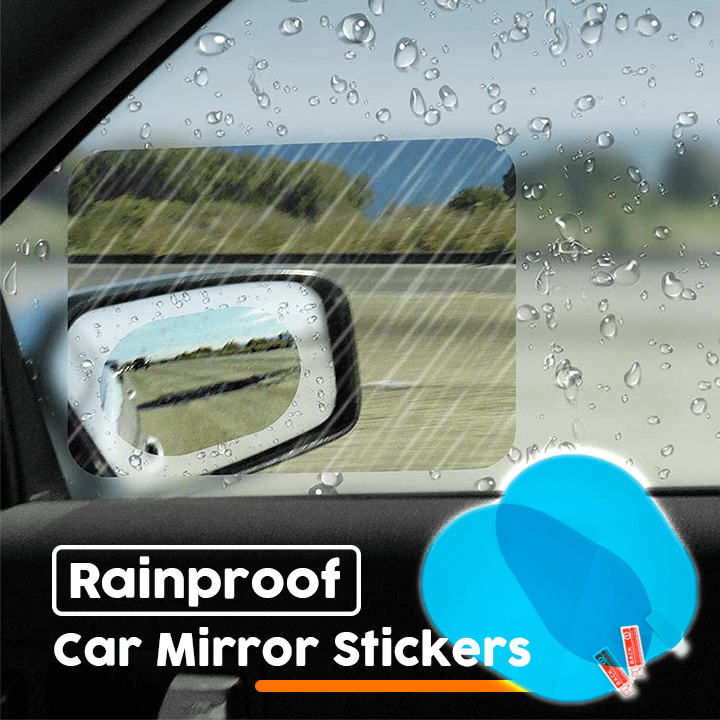 Rainproof Car Mirror Stickers Set