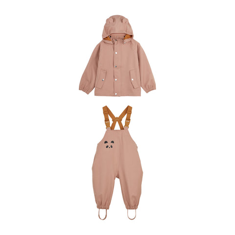 Liewood Dakota regntøj - mini Rainwear 2250 Dark rose