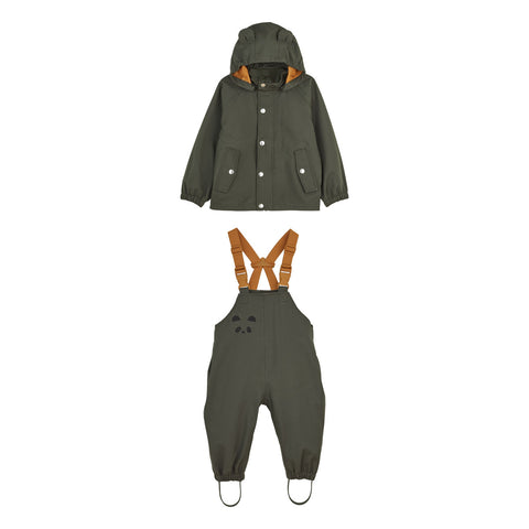 Liewood Dakota regntøj - mini Rainwear 7348 Hunter green