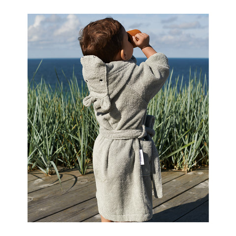 Liewood Lily badekåbe Bathrobe 6965 Hippo dove blue