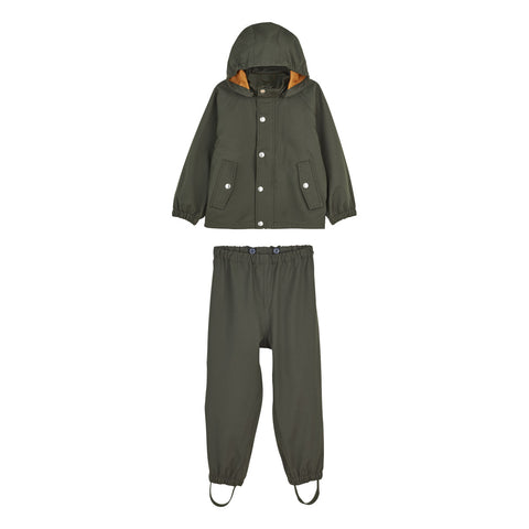 Liewood Parker regntøj - junior Rainwear 7348 Hunter green