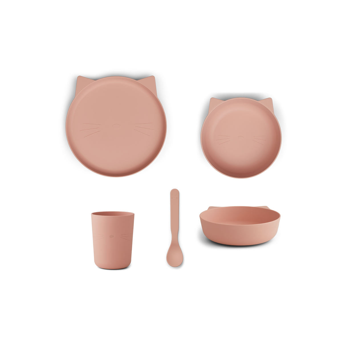 Liewood Paul spisestel - Cat rose blush - Tableware