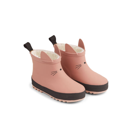 Liewood Jesse thermo rain boot Shoes 2258 Dark rose/black mix
