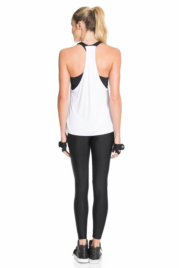 T-Shirt De Alças Maxi Essential Workout Branco