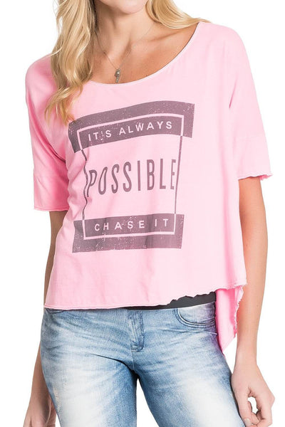 T-Shirt Possible Way Rosa