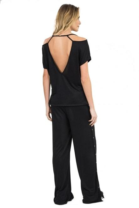 T-Shirt Twist Sleek Preto