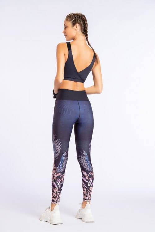 Leggings Reversíveis Deep Garden Denim