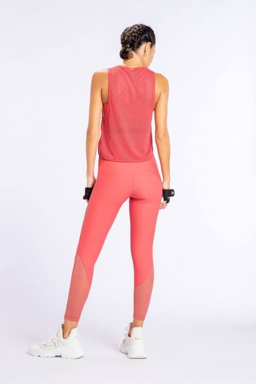 T-Shirt De Alças Desportiva Feminina Cropped Strike Side Rosa