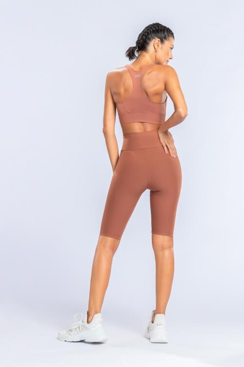 Essential Racer Top Brown