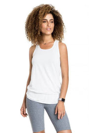 T-Shirt De Alças Fresh Basic Twist Branco