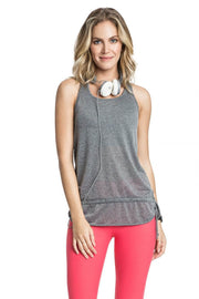 T-Shirt De Alças Fresh Basic Twist Cinzento