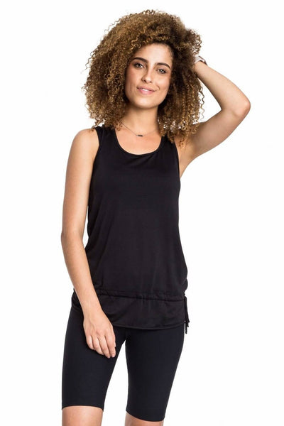 T-Shirt De Alças Fresh Basic Twist Preto