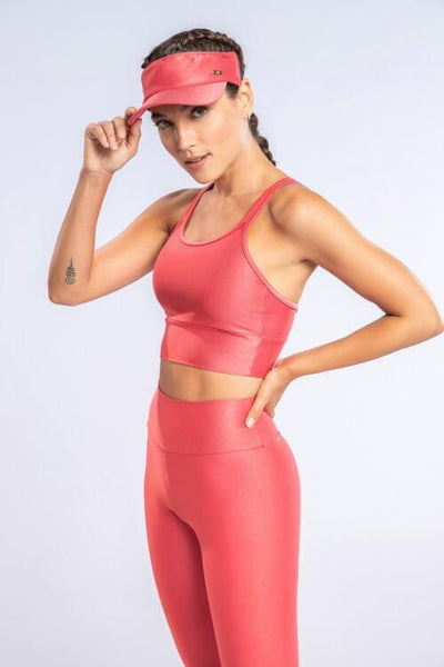 Top Desportivo Feminino Strappy Rosa