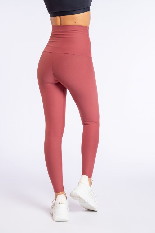 Leggings High Active Essential Bordô