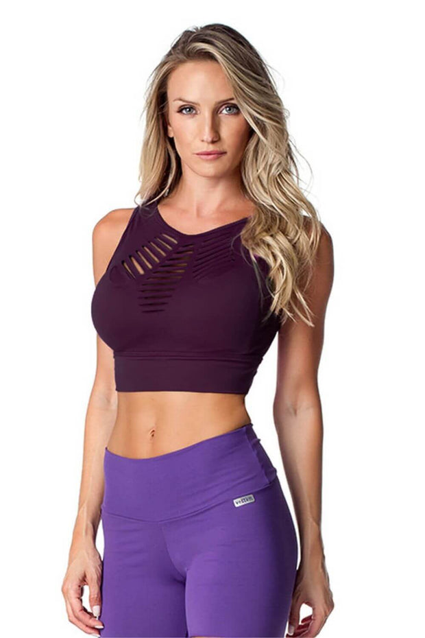 top cropped desporto feminino roxo