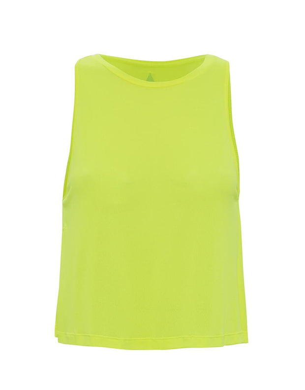 Cropped Tank Top Yellow