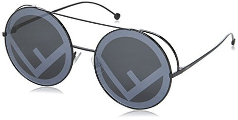 Fendi black round sunglasses