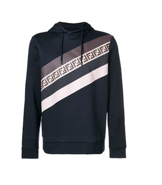 Fendi striped FF Hoody - Munazul