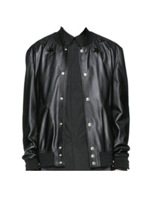 Givenchy leather applique jacket - Munazul