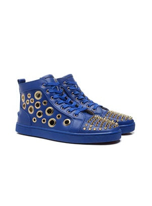 Christian Louboutin Blue Mika high-top trainer