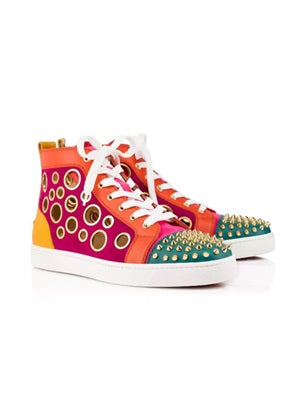 Christian Louboutin Multicolour Mika high-top trainer