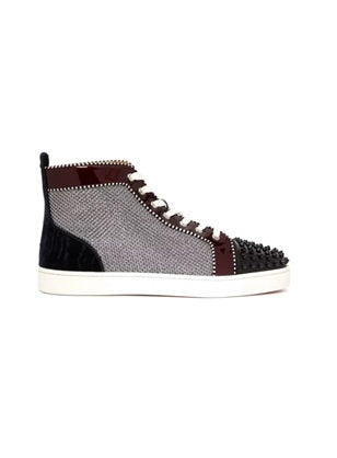 Lou Spikes leather high top trainers - Munazul