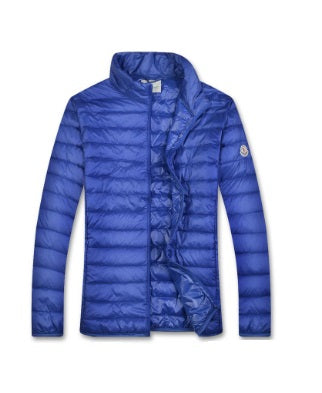 Moncler Blue Homme quilted jacket