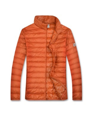 Moncler Orange Homme quilted jacket