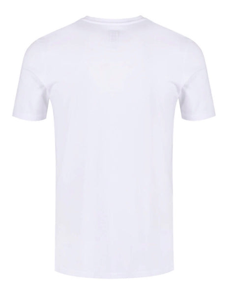 Munazul Block tee in white