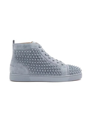 Lou spike embellished Grey high top trainers - Munazul